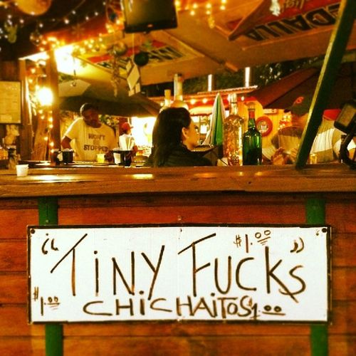 """Won't be stopped"" Wontbestopped Tinyfucks Tiny Fuck shot drink bar bartender chichaito $1 caborojo puertorico"