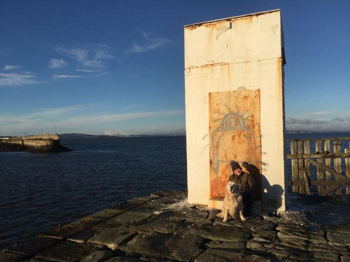 On the feast of Stephen... Edinburgh Granton Harbour Boxing Day Dog Outdoors Day