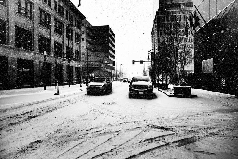 Snow on streets