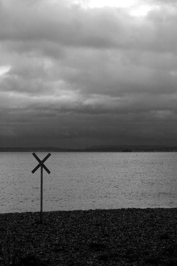 Standing Before The Isle of Wight Isle Of Wight, UK Beach Beauty In Nature Black And White Blackandwhite Cloud - Sky Horizon Horizon Over Water Land Nature Overcast Scenics - Nature Sea Sky Tranquil Scene Tranquility Water