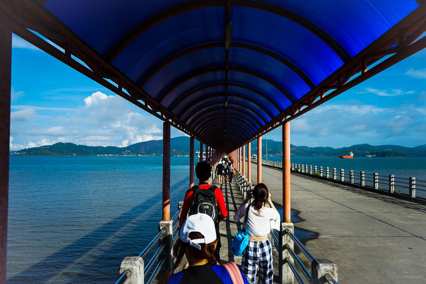 go to the pier. Andaman Sea Cockburn Island Rayong,Thailand Thailand Water City Sea Men Nautical Vessel Women Bridge - Man Made Structure Beach Mountain Sitting