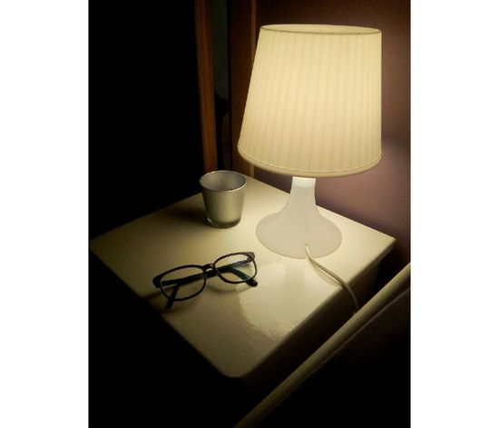 Night Night, Sleep Tight Light On Dream Alone At Home EyeEm Whitelight White Glasses Glasses Ynk Light And Shadow Light In The Darkness