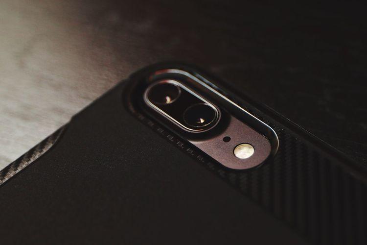 The new iPhone 7 plus DualCamera IPhoneography Apple Blackandwhite Carbonfiber Matteblack Ios10 First Eyeem Photo