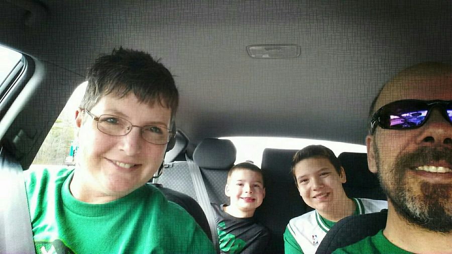 Modern Father Heading out to the Celtics game with the family