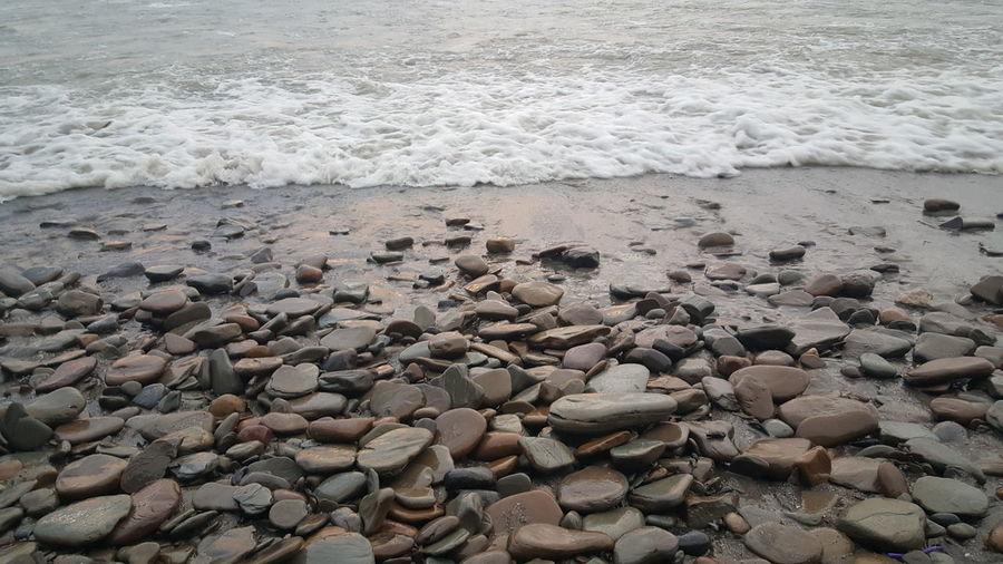 Beach rocks shore sand beach lovers
