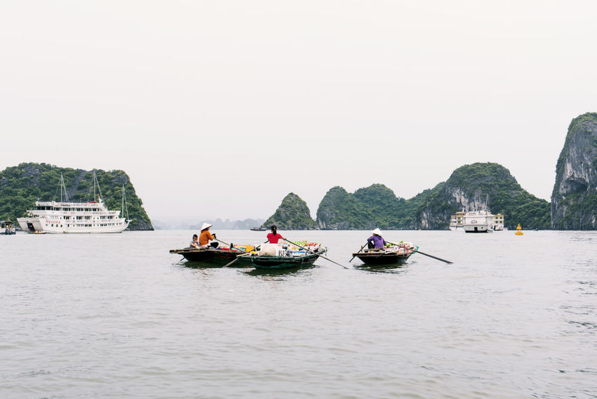 Nautical Vessel Transportation Adult Copy Space River People Vacations Adults Only Travel Outdoors Sitting Day Water Men Women Nature Floating Market Floatingmarket Floating Village Halong Bay Vietnam Halong Bay  Halong Halongbay Halong Bay  Vietnam Connected By Travel Be. Ready. Colour Your Horizn