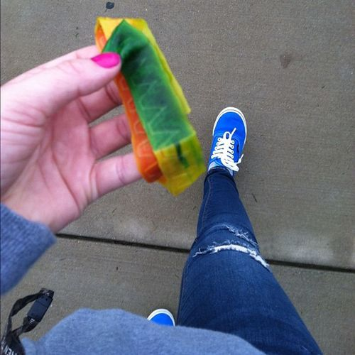 Fruit rolly my skinniest and some vans. Great morning. Fruitrollup Skinnypants Skinnies  Vans