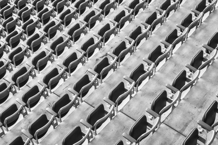 Full frame shot of seats in row