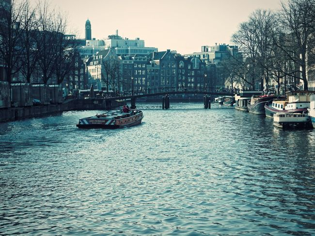 Amsterdam Architecture Built Structure Canal City City Life River Riverbank Tree Urban Skyline Vintage Water Waterfront Claudetheen