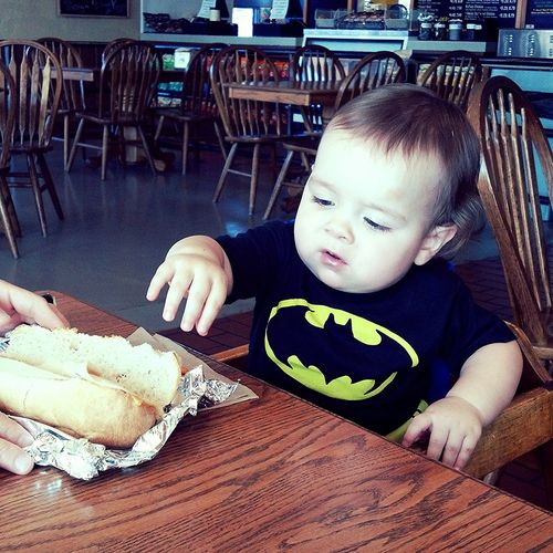 What does a Superhero eat? A hero sandwich. Child Edmond Oklahoma