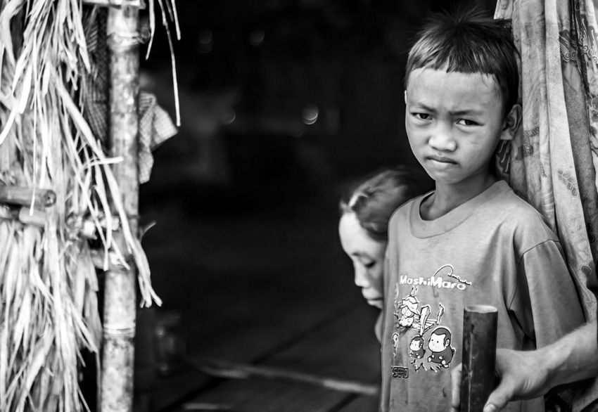 Child Childhood Real People Innocence Looking Intense