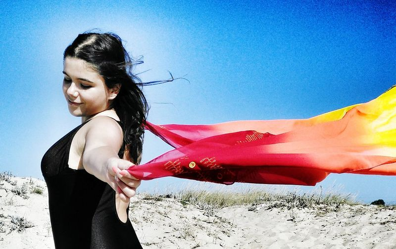 my syster, my model. EyeEm Selects Young Women Beautiful Woman Water Smiling Portrait Long Hair Red Standing Sky Close-up Sand Dune Desert Sandy Beach Shore Sand Posing Beach Atmospheric Thoughtful Sleeveless  Arid Landscape The Fashion Photographer - 2018 EyeEm Awards The Portraitist - 2018 EyeEm Awards Summer In The City