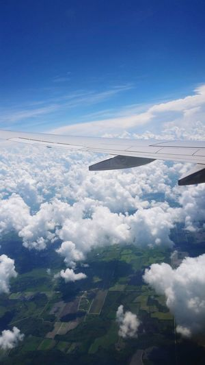 Sky And Clouds Plane Window Environment Landscape No People Outdoors Plane Wing