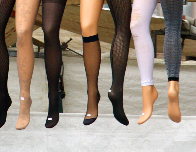 A Taste Of Amsterdam Amsterdam Markets Close-up Day Human Body Part Human Leg Indoors  Ladies Tights Low Section Odd Stockings People Real People Standing Stockinged Legs Togetherness Lost In The Landscape End Plastic Pollution #urbanana: The Urban Playground