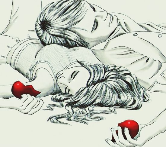 Love Drawn Art Disign Lonely