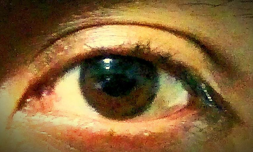 just one eye One Person Close-up Human Eye Real People Human Body Part Looking At Camera Indoors