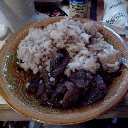 #еда #обед #рис #грибы #dinner #eat Dinner Eat Еда грибы обед рис