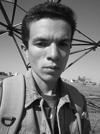 Black And White Selfie ✌ Ugly Face Ugly Boy Denim Jacket Portrait Preto & Branco