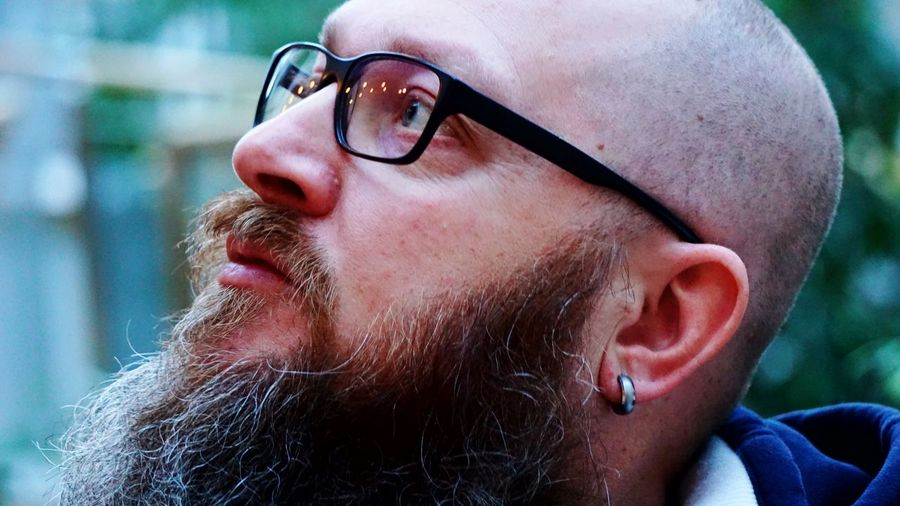 Close-Up Of Hipster Looking Away