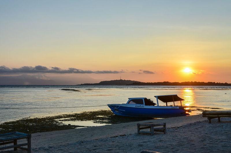 Bali Gili Gili Air Gili Air Sunset Beach Gili Island Giliair