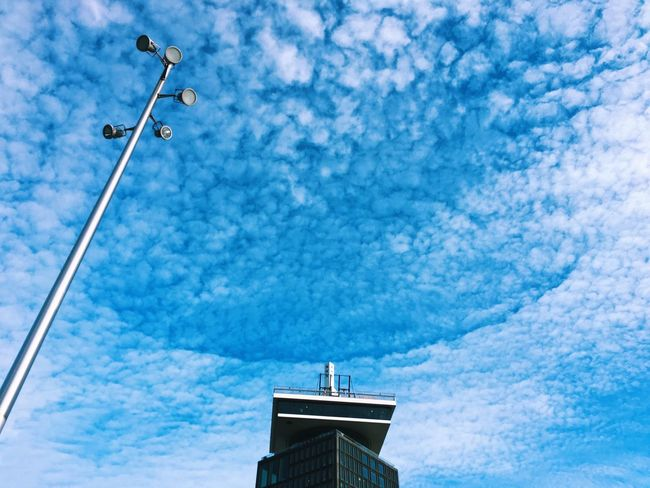 Beautiful phenomenon! Never seen this before myself. Blue Sky Low Angle View No People Day Architecture Outdoors Building Exterior Built Structure Phenomenon Natural Phenomenon Clouds Cloud - Sky Circular Cloud