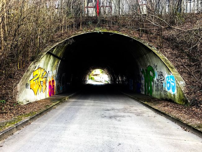 Tunnel Architecture The Way Forward Built Structure Green Color Outdoors Nature Tag Streetart/graffiti