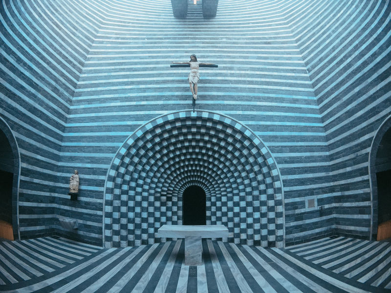 Absence Arch Architecture Bathroom Blue Building Built Structure Ceiling Day Design Direction Door Entrance Futuristic Home Indoors  No People Pattern San Giovanni Battista The Way Forward Window