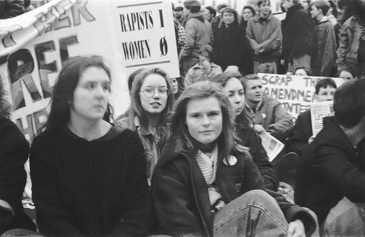 X-case protest march, Dublin, Ireland, 1992 1990s Abortion Day Dublin Dublin, Ireland Ireland Outdoors Pro-Choice Protest Protesters Women X-case EyeEmNewHere