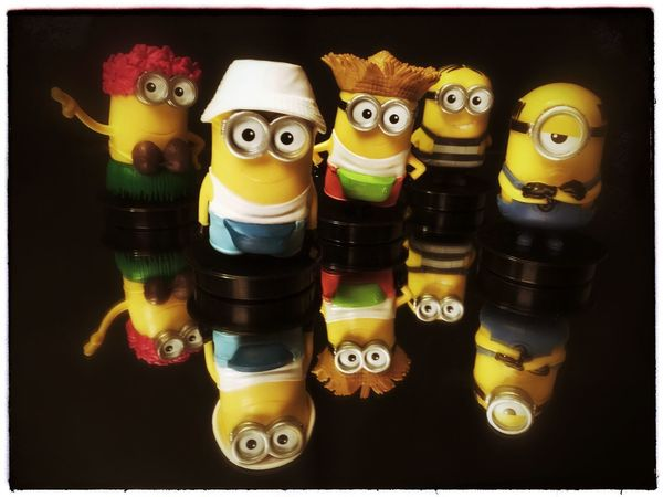 The minions have come for a visit today. Toy Yellow Project 365 Photo Of The Day Photography Iphone6se Dispicable Me