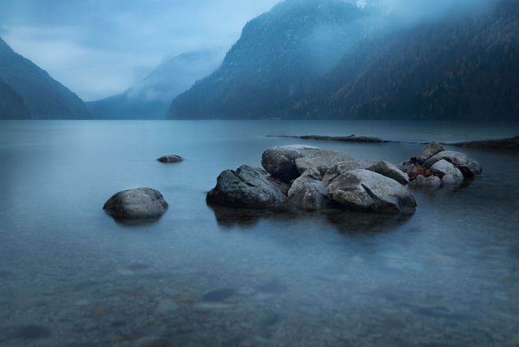 Place of Silence Alphabetography Alpine Alps Berchtesgadener Land  Deutschland First Eyeem Photo Germany Königssee Longtimeexposure Lzb Mountain Nebel Ruhe S Sea Silence Stille Stones W Water