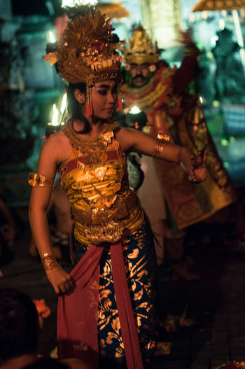 Arts Culture And Entertainment Performance Performing Arts Event Adults Only Make-up Full Length People Night Celebration Hindu Temple Bali Temple Beautiful Woman Legong Balinese Dancing Legong Dance Bali Art And Culture Bali❤️Love Balinese Culture Outdoors EyeEmNewHere Travel Destinations Holiday Destination Adults Only Balinese Life Balinese Dancer