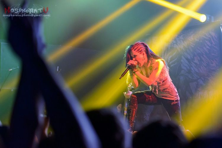Alissa White-Gluz at Tele-Club, Yekaterinburg @03.10.2014 Arch Enemy Tele-club Concert