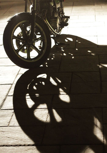 BIG WHEELS Motorcycle Night Photoraphy Blackandwhite Photography High Contrast Shadow Street Transportation Wheel