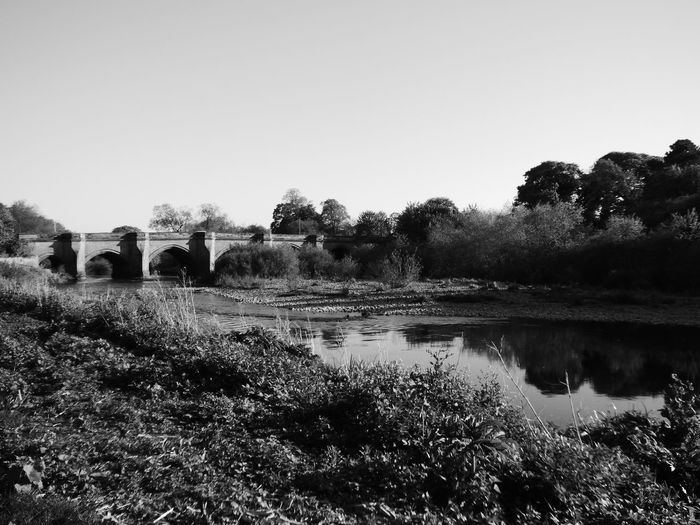 Croft Bridge Outdoors Reflection Tree Water No People Sky Nature Day Clear Sky Popular Photos Photography Blackandwhite Popular Architecture History Through The Lens  Architecture_collection Architecturelovers Built Structure