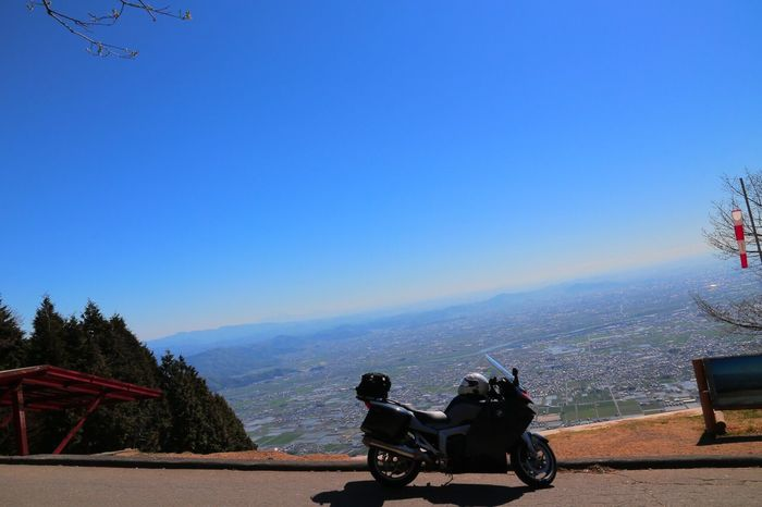 Day Clear Sky Mountain Landscape Transportation Motorcycle Travel Destinations Blue Road Scenics Outdoors Nature Beauty In Nature Tree No People Sky First Eyeem Photo Flying Travel View Bmw K1200gt BMWMotorrad Bmwmotorradpt Japan