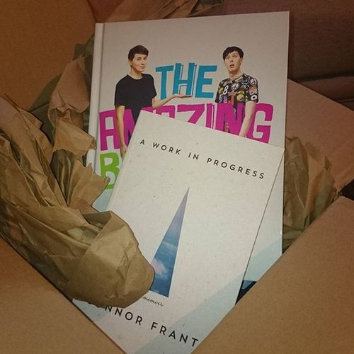 Finally Theamazingbookisnotonfire Danisnotonfire  Amazingphil Aworkinprogress ConnorFranta Books Love Happy Youtube