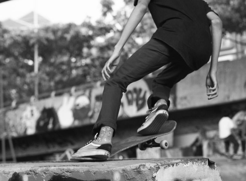 Shoe Low Section Sports Shoe Outdoors Sport Lifestyles Motion Streetphotography The Street Photographer - 2017 EyeEm Awards Outdoor Photography Skateboards Monochrome Photography Skateboardphotography