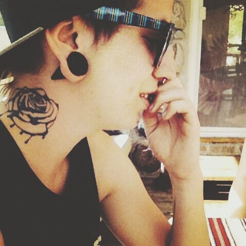 Helle There <3 Necktattoo Tattoos Stretched Ears Good life <3