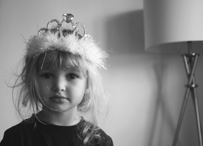 Children Only One Girl Only Child Girls One Person Headshot Portrait People Front View Beauty Crown Black And White Natural Lighting The Portraitist - 2017 EyeEm Awards