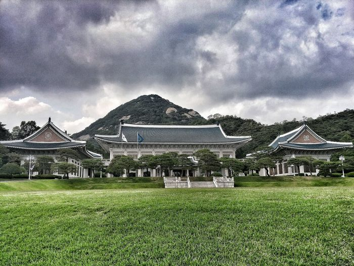 Cheongwadae Of Korea First Eyeem Photo Korea Korean Traditional Architecture Blue House Blue Cloudy Cool Mood