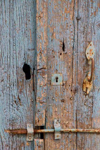 Door Old Door Chipped Wood Chipped Paint Blue Door Wood