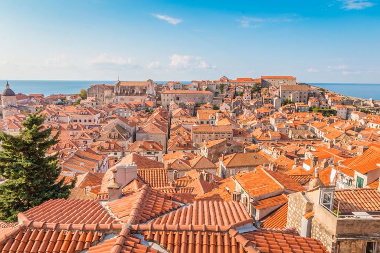 Beautiful Dubrovnik Dubrovnik Dubrovnik, Croatia Architecture Building Exterior Roof Built Structure Sky Residential District Building Roof Tile City Nature High Angle View Cloud - Sky House Day No People Town Travel Destinations Cityscape Water Community Outdoors TOWNSCAPE