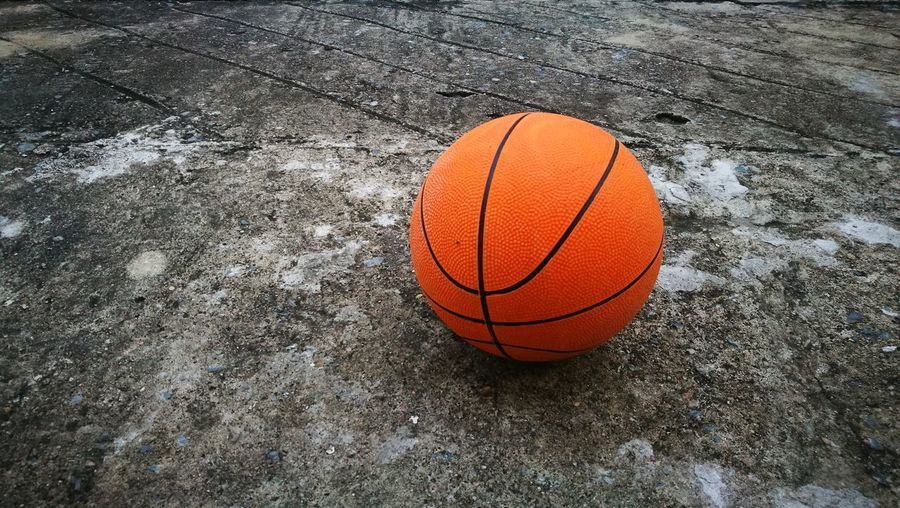 Basketball Object Focus Orange Color Hard Ground Sports Photography HuaweiP9
