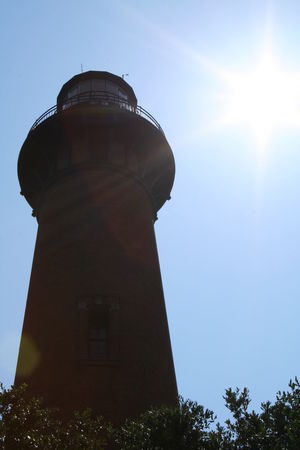 Built Structure Clear Sky Currituck Beach Lighthouse High Noon High Sun Lighthouse OBX Outer Banks Sunlight ☀ Tower