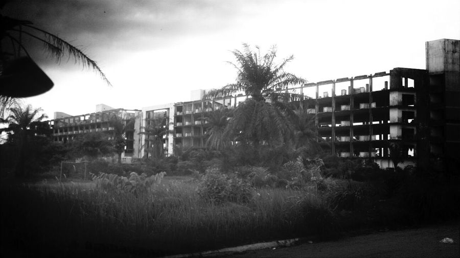 this my friends is Hotel Africa, it was one of the gems of West Africa... damn it war can do some awful things... KCe Filter History Taking Photos Blackandwhite