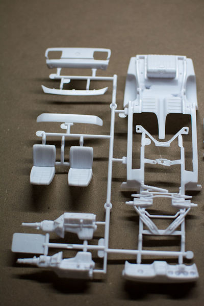 Car Indoors  Many Parts Mustang No People Plastic Plastic Model White