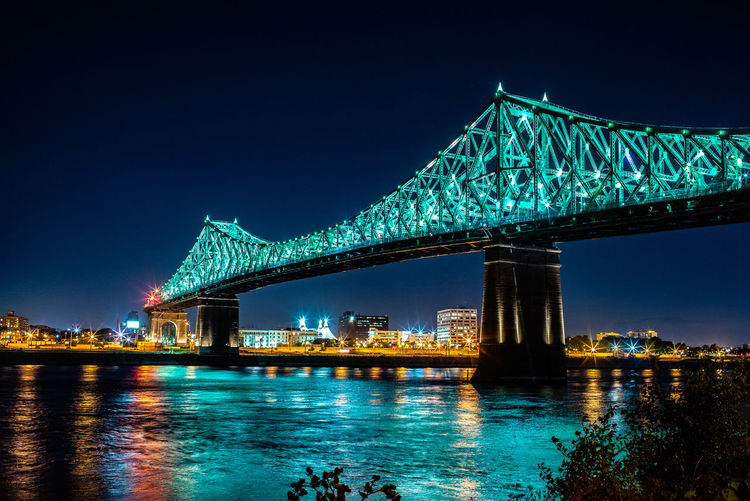 HUAWEI Photo Award: After Dark Architecture Blue Bridge Bridge - Man Made Structure Building Exterior Built Structure City Cityscape Connection Illuminated Nature Night No People Outdoors Reflection River Sky Transportation Travel Destinations Water