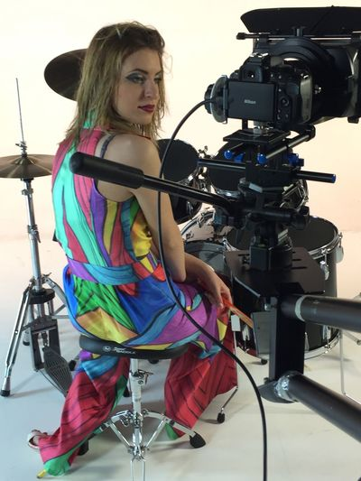 Movie making Technology One Person Photography Themes Arts Culture And Entertainment Camera - Photographic Equipment Women Communication