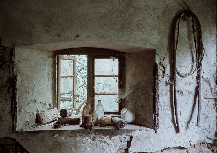 Interior of old abandoned house