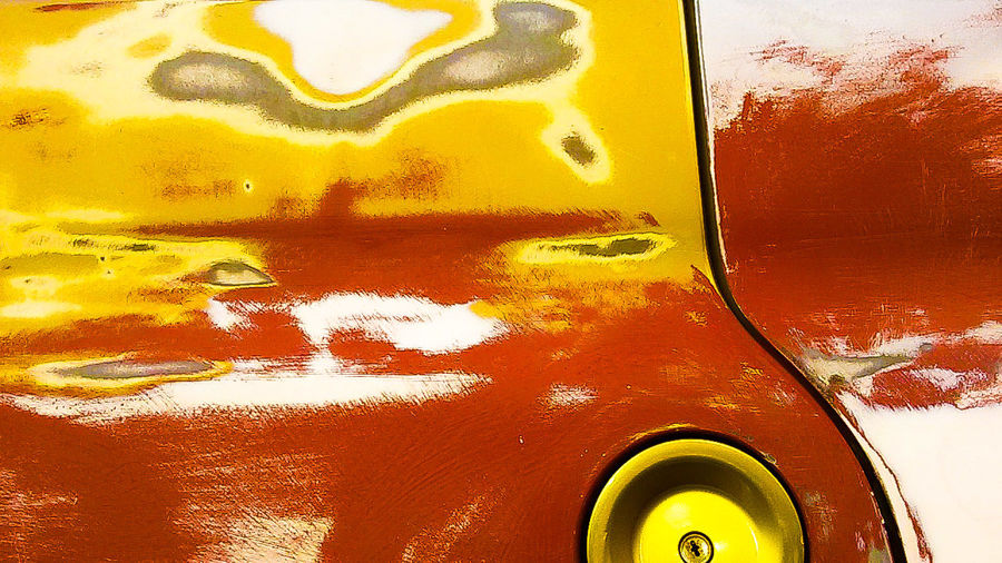 Art Is Everywhere Backgrounds Yellow Red Red Color Close-up Abstract Textured  No People Full Frame Car Car Body Oxidation Oxidation Process EyeEmNewHere 3XSPUnity Samsungj5photography Samsungj5photography📱
